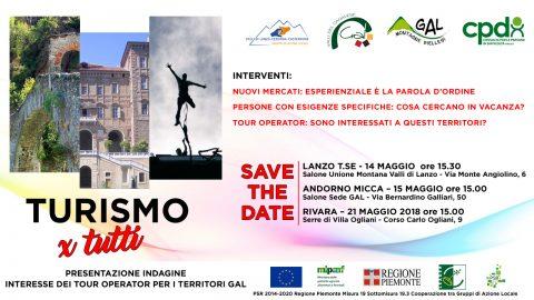 Invito presentazione dell'evento Turismo per Tutti