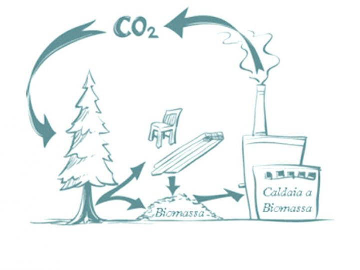 Schema del funzionamento a Biomaasa