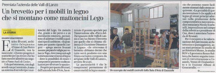 La Stampa - Brevetto legno