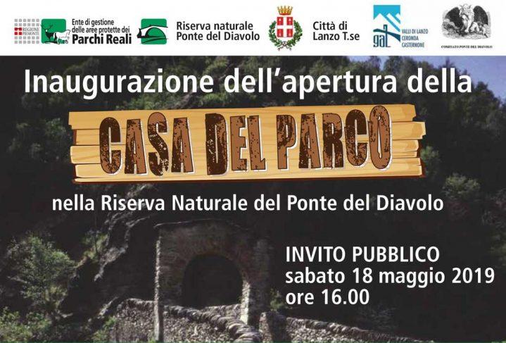 Immagine di presentazione della news inserente all'inaugurazione della Casa del Ponte del Diavolo di Lanzo Torinese