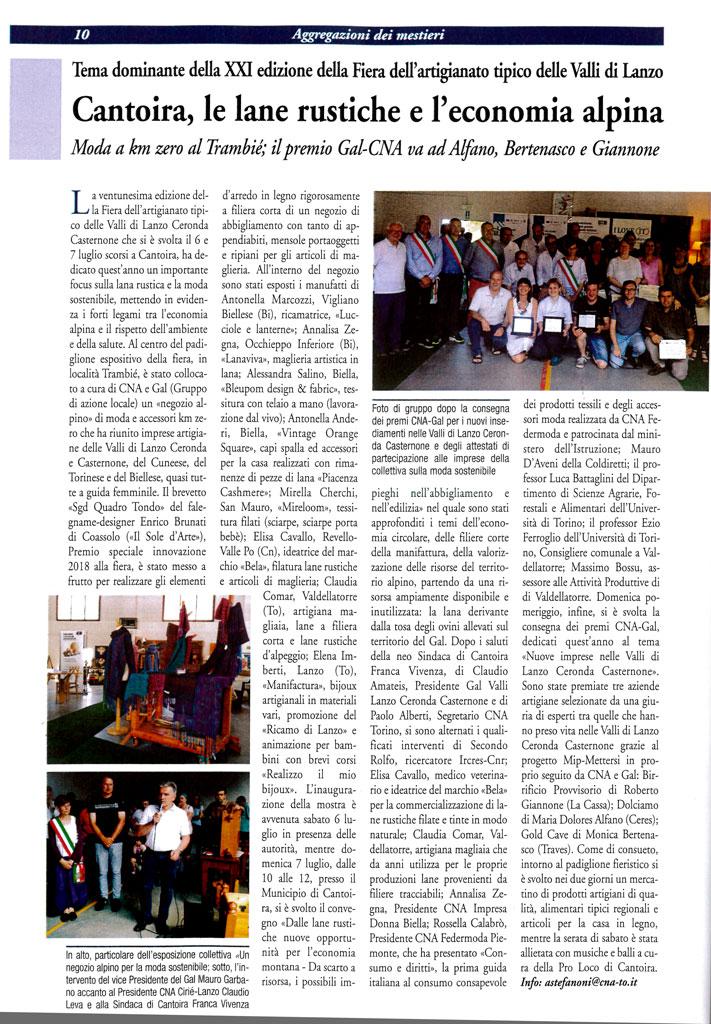 Articolo Corriere Artigianato